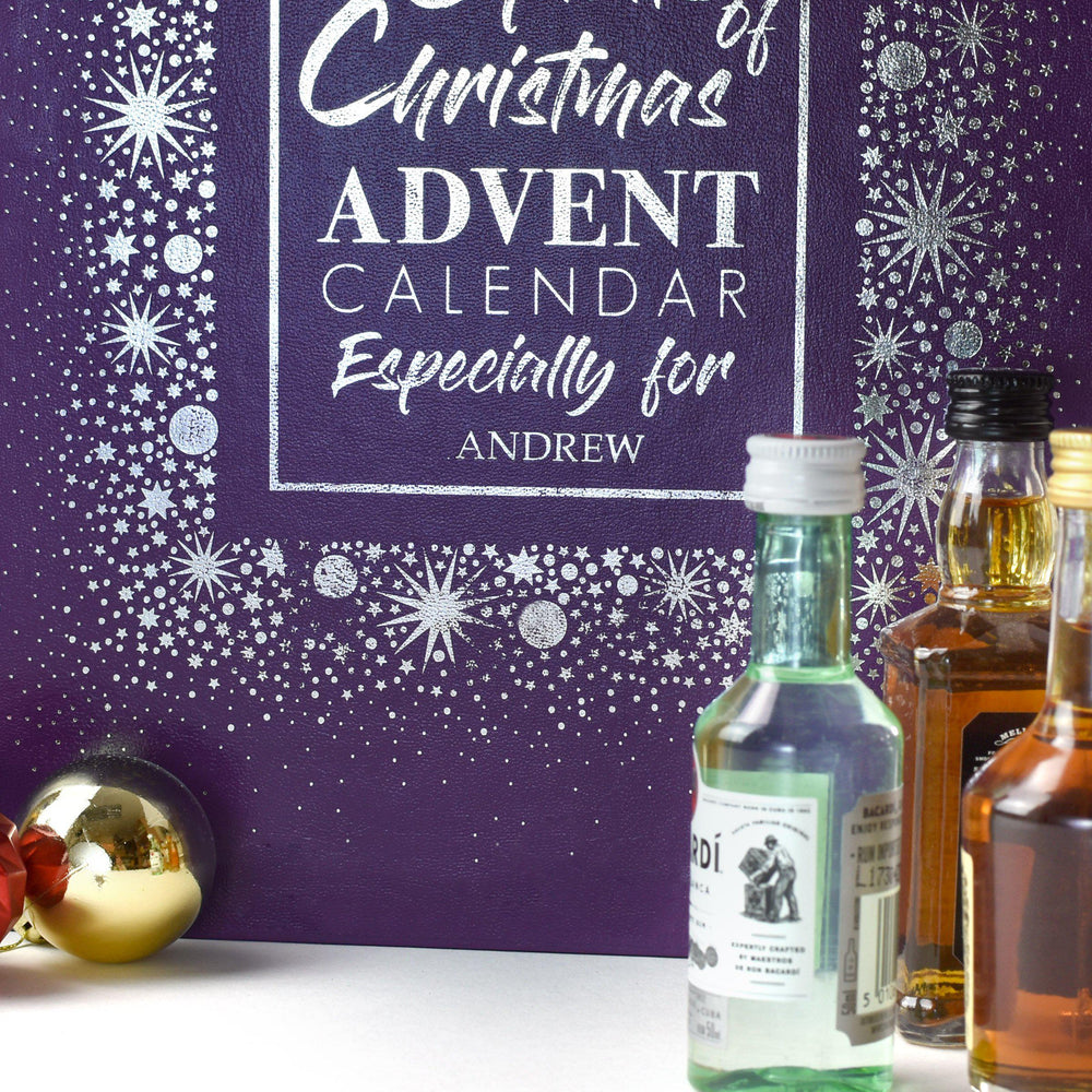 Personalised Mixed Spirits Advent Box - AG3