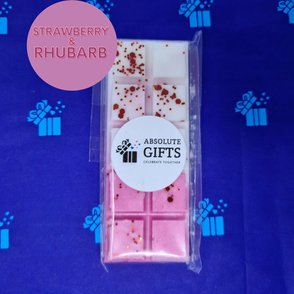 Strawberry & Rhubarb Snap Bar - Pink & White With Red Glitter Pieces