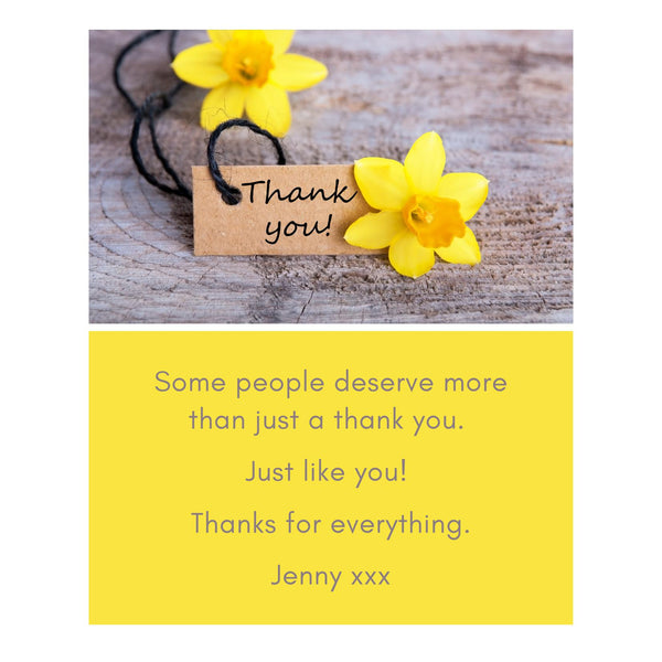 Thank You Message Card - A6
