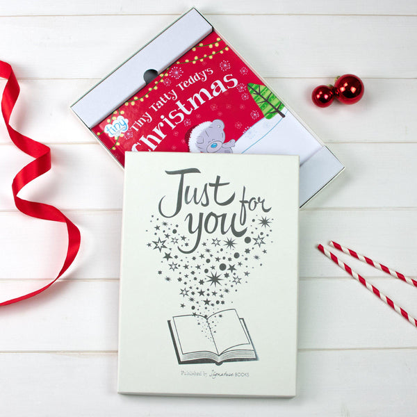 Personalised Tiny Tatty Teddy's Christmas Book - Gift Box With The Words Just For You