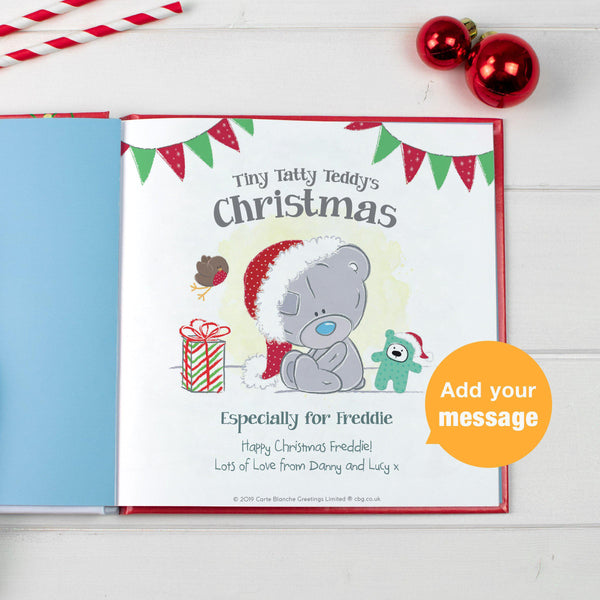 Personalised Tiny Tatty Teddy's Christmas Book - Personalise The First Page Of The Book Wit Personalised Name & Message