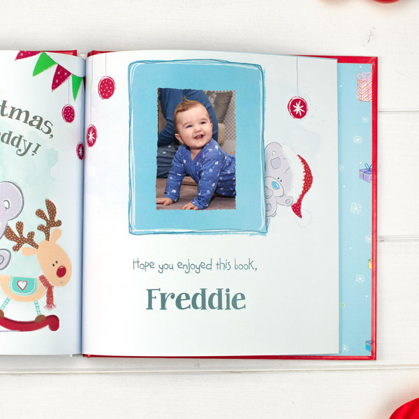 Personalised Tiny Tatty Teddy's Christmas Book -  Picture Of Uploaded Photo In The Book
