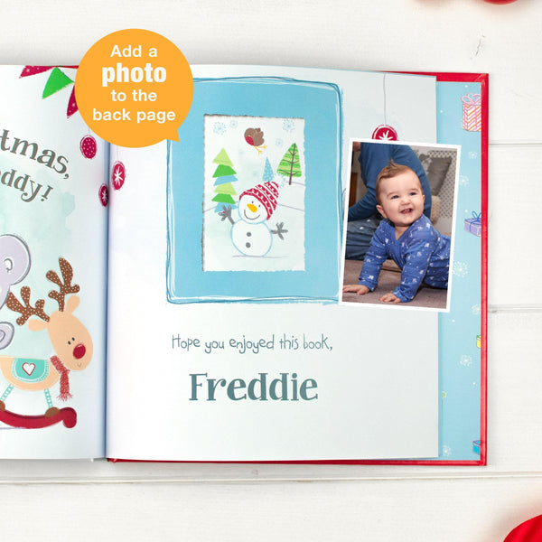 Personalised Tiny Tatty Teddy's Christmas Book = Personalise The Back Page With Recipients Photo