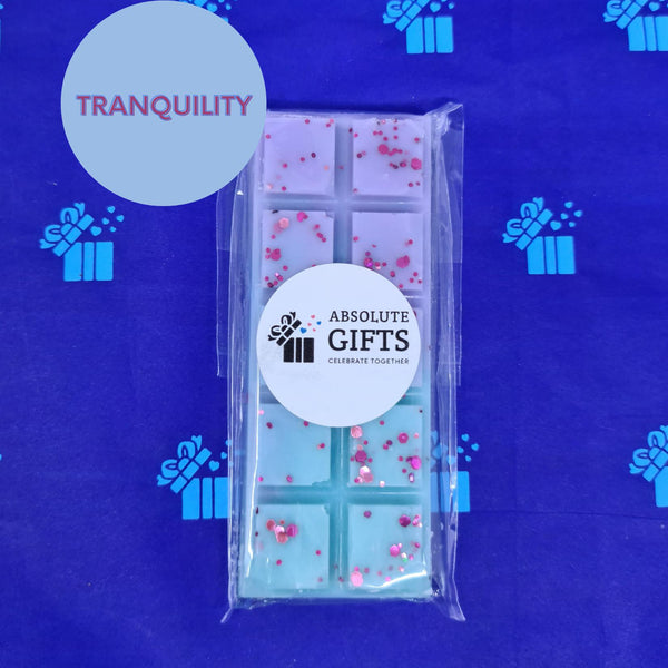 Tranquility Snap Bar - Violet & Aqua With Purple Glitter Pieces