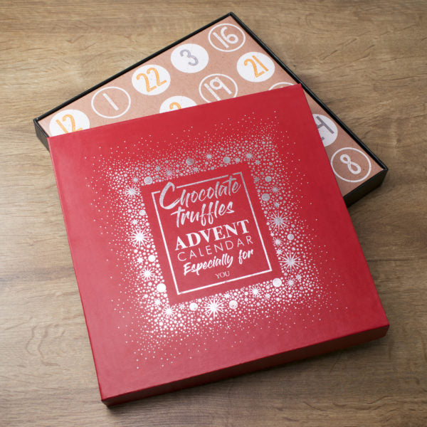 Non Personalised Truffles Red Advent Box