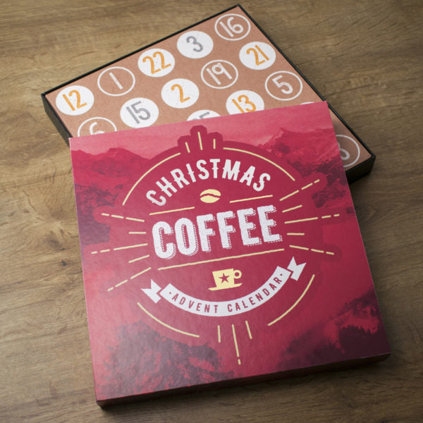 Non-Personalised Red Coffee Advent Box