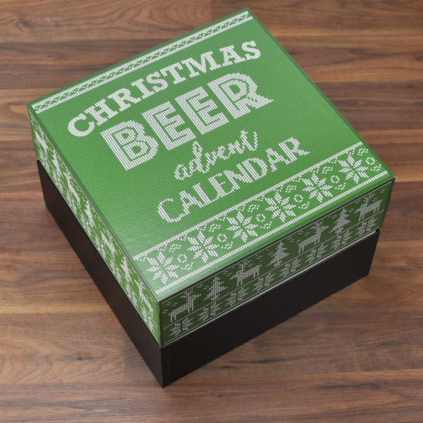 Non Personalised Green And White Beer Advent Box