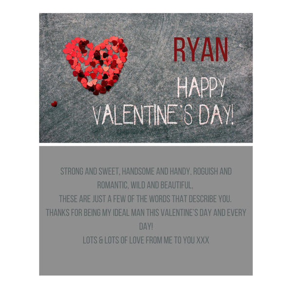 Male Valentines Message Card - A6
