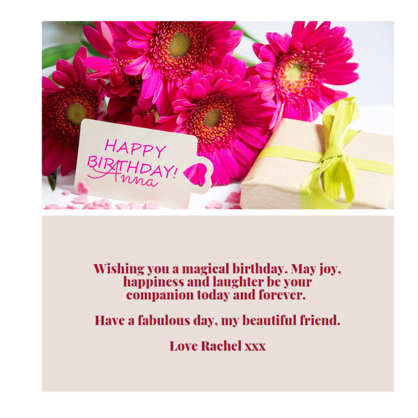 Women's Happy Birthday Message Card - A6