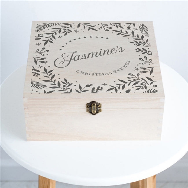 Wreath Christmas Eve Box - A personalised Christmas Eve box with a festive wreath design