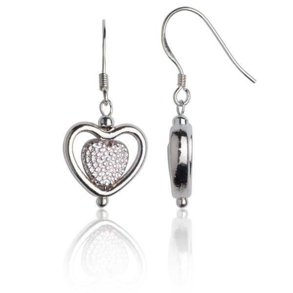 Pierced & Pitted Heart Earrings