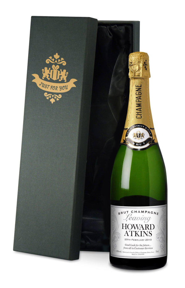 Personalised Goodbye Leaving Gift Champagne