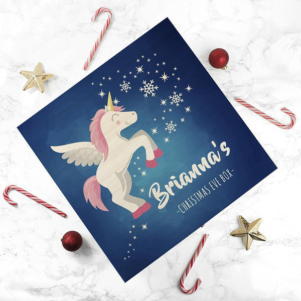 Personalised Baby Unicorn Christmas Eve Box - Large