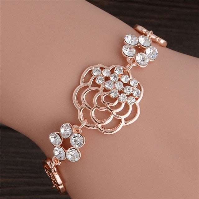 Filigree Floral Gold Bracelet