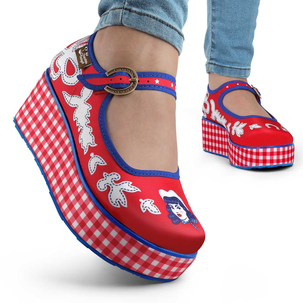 Chocolaticas® Cowgirl Women's Mary Jane Platform