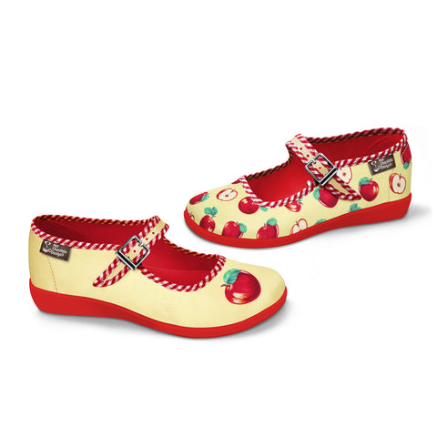 Chocolaticas® Apple Women's Mary Jane Flat