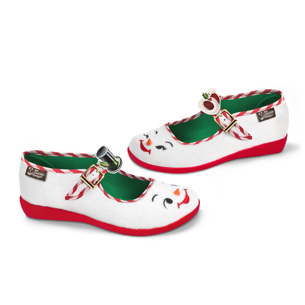 Chocolaticas® Snowman Women's Mary Jane Flat