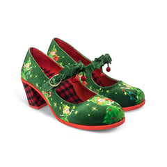 Chocolaticas® Mid Heels Christmas Wishes Women's Mary Jane Pump