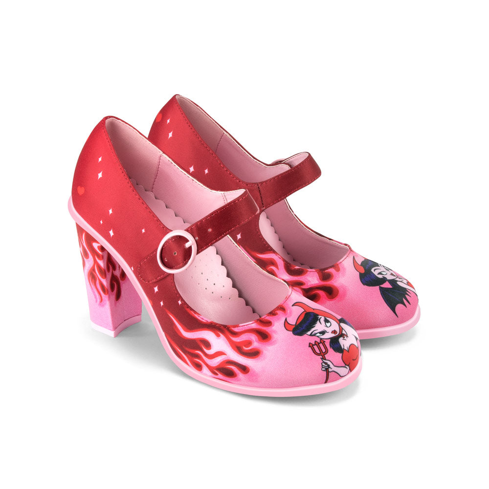 Chocolaticas® High Heels Devil Women's Mary Jane Pump