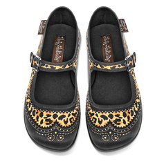 Chocolaticas® Havana Leopard Women's Mary Jane Flat