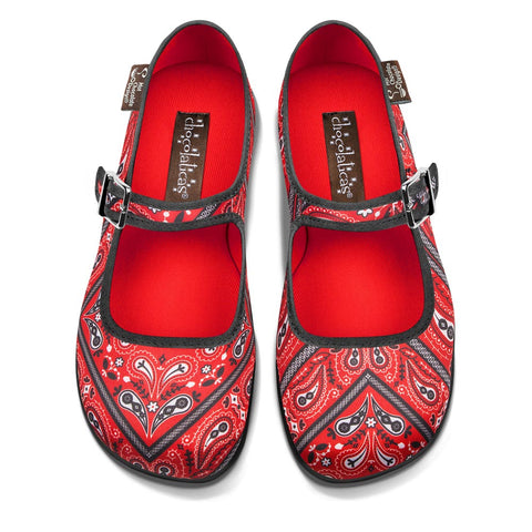 Chocolaticas® Bandana Women's Mary Jane Flat Shoes