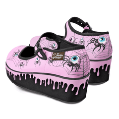 Chocolaticas® Pink Widow Women's Mary Jane Platform
