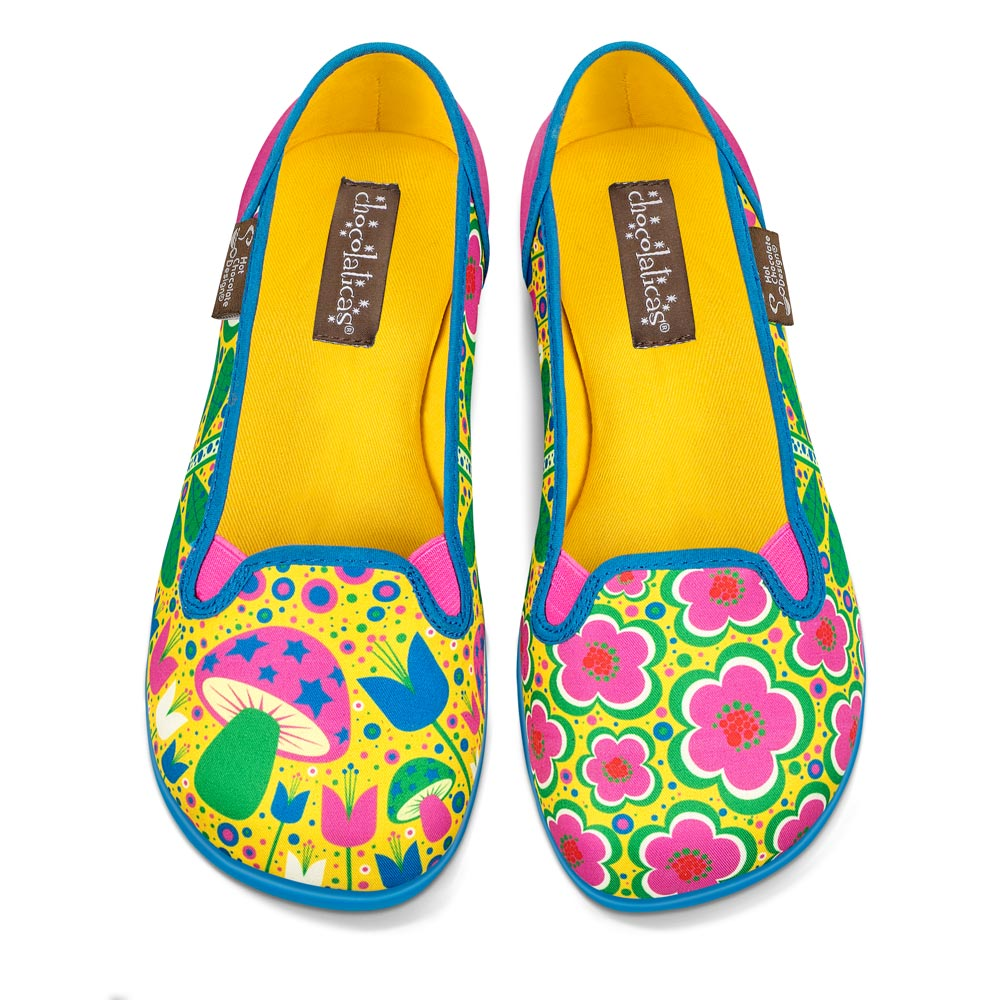 Chocolaticas® Flower Power Women's Slip-On Shoes