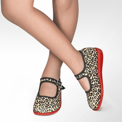 Chocolaticas® Leopard Women's Mary Jane Flat