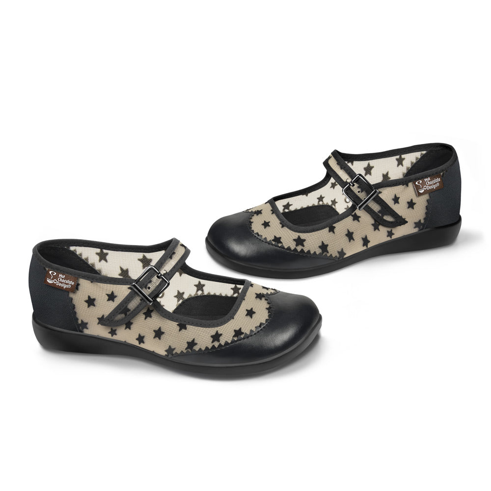 Chocolaticas® Havana Stars Women's Mary Jane Flat