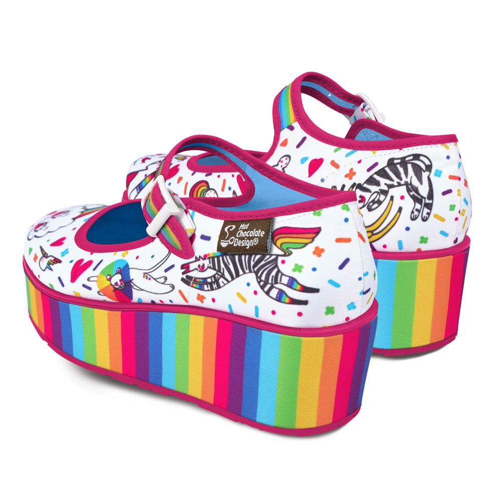 Chocolaticas® Rainbow Women's Mary Jane Platform