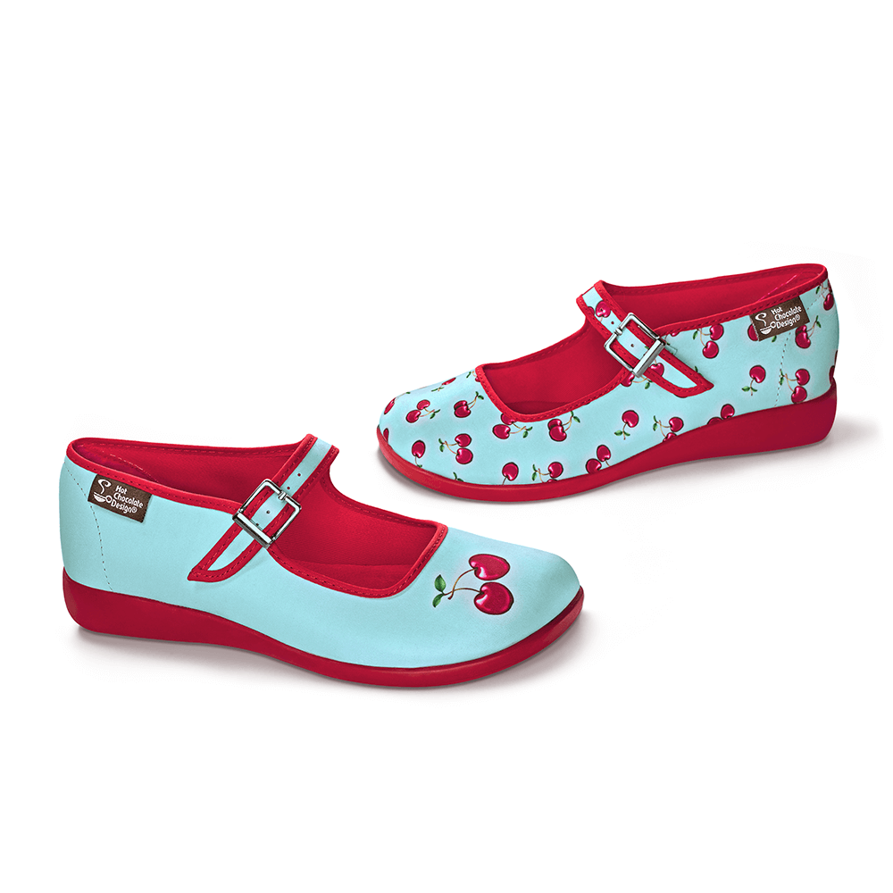 Chocolaticas® Cherry Women's Mary Jane Flat