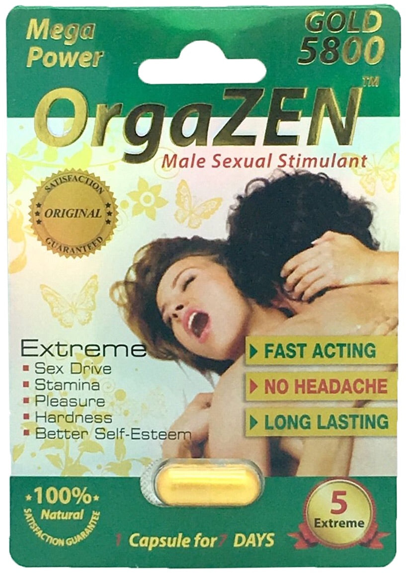 Orgazen gold 5800 herbal male enhancement 1 pill(男用壮阳)