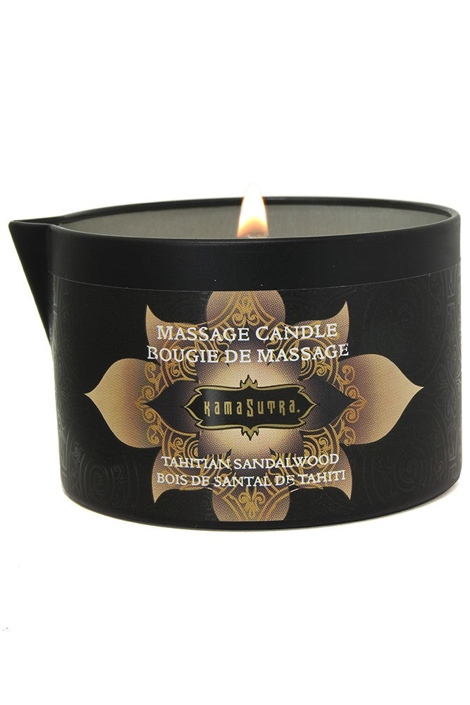 Massage Candle 6oz/170g in Tahitian Sandalwood Kama Sutra