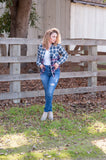 Kick the Dust Up Plaid Long Sleeve Top