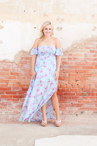 Delicate as a flower maxi dress