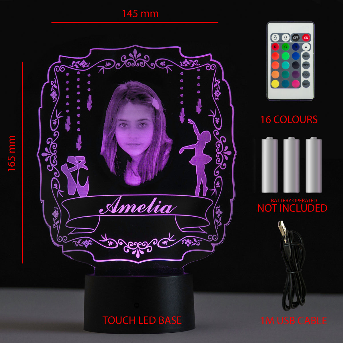 Personalised Gift Engraved Photo LED Night Light - National Engraver