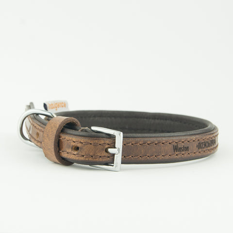 Ancol Personalised Dog Collars | Greyhound | Lurcher | Whippet | Saluki | Deerhound | Timberwolf Leather