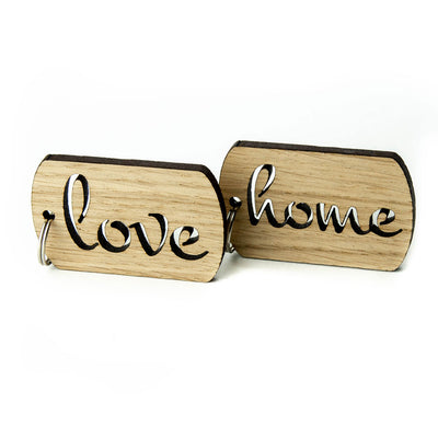 Keyring with Love, Home Keys Wooden