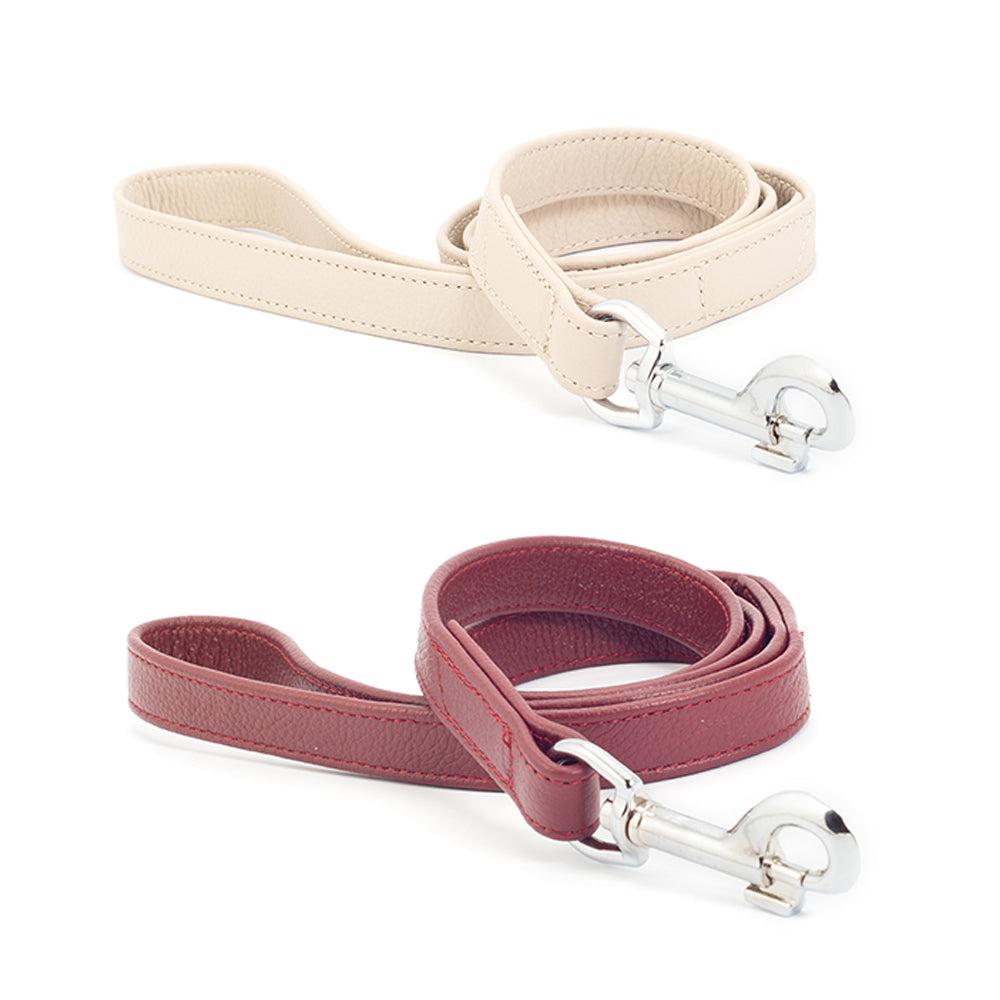 Personalised Ancol Indulgence Folded Softest Leather Dog Collars with Leads - National Engraver