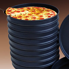 PIZZA GENIUS PAN BLACK STEEL DEEP DISH - CROWN COOKWARE CA WEB STORE