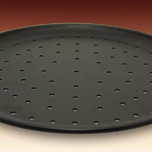 "PIZZA PAN TRADITIONAL 1/4"" PERFORATED TRUE BLACK ANODIZED"