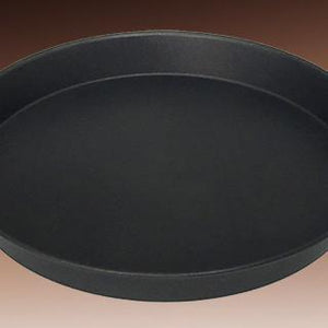 PIZZA GENIUS PAN, BLACK STEEL,DEEP DISH TAPERED - CROWN COOKWARE CA WEB STORE