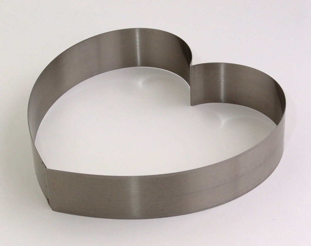 Heart Cake Ring Stainless  Steel