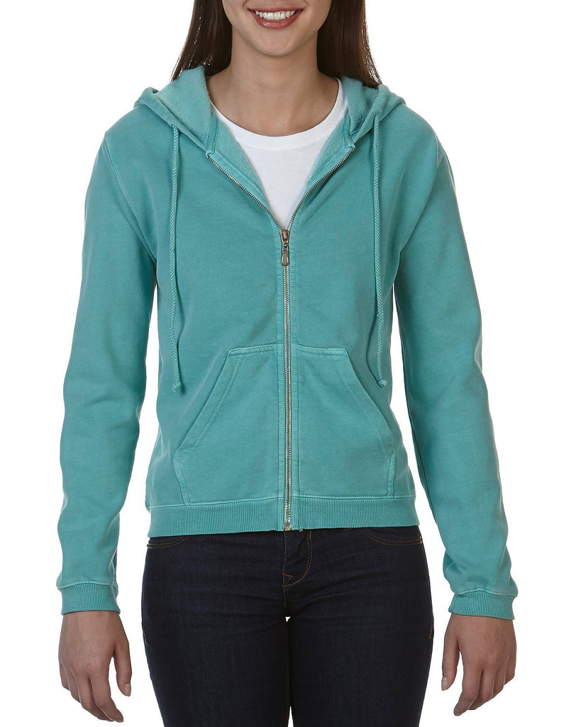 LADIES' FULL ZIP HOODED SWEAT
