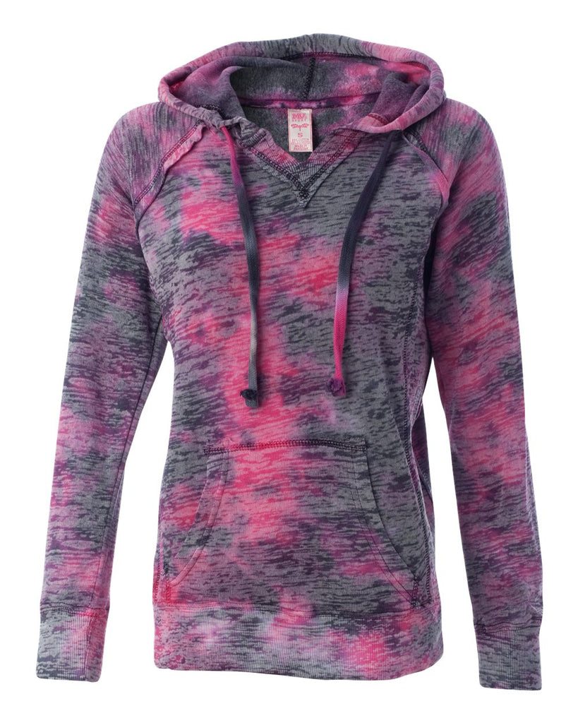 MV Sport - Women's Courtney Burnout V-Notch Hooded Sweatshirt