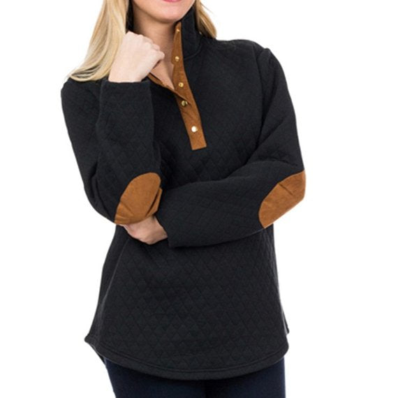 9b27432f95d Monogram Quilted Pullover Tunic, Diamond Quilted Sweatshirt – Moda ...