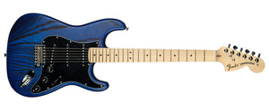 FENDER LIMITED EDITION SANDBLASTED STRAT MN ASH SAPHIRE BLUE TRANSPARENT