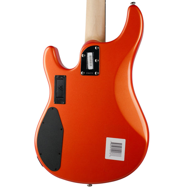 ERNIE BALL STERLING TANGERINE PEARL RW MATCHING HEADSTOCK BLACK PICKGUARD (DEMO)