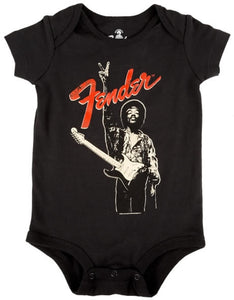 FENDER BABY ONESEE HENDRIX PEACE, Blk, 6 MONTH