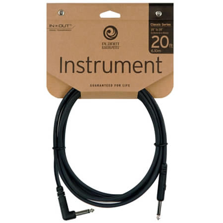 PLANET WAVES 20' CLASSIC RIGHT ANGLE INSTRUMENT CABLE